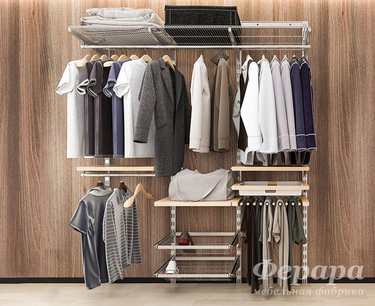 Сетчатая гардеробная система фото