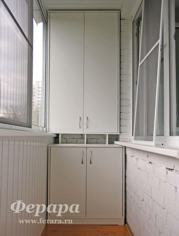 Распашной шкаф на балкон (фото, информация, размеры, материа.