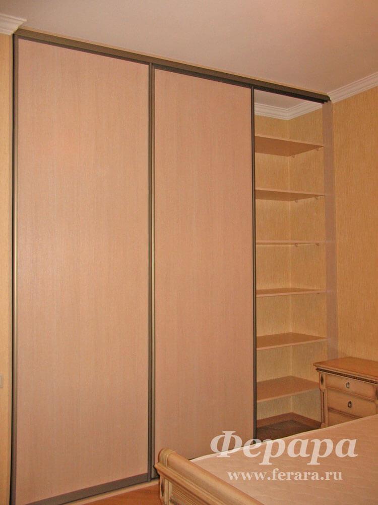 Корпусный шкаф-купе с дсп (клен, шампань) (фото, информация,.