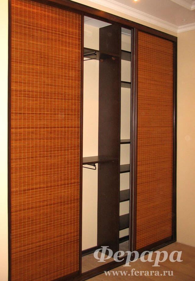Корпусный шкаф-купе с бамбуком (венге) (фото, информация, ра.