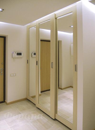 Корпусный шкаф-купе с зеркалом (дуб, дсп) (фото, информация,.