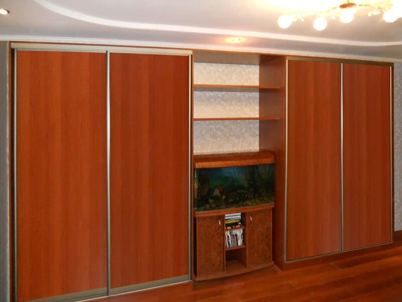 Корпусный шкаф-купе с тв-тумбой (вишня виктори) (фото, инфор.