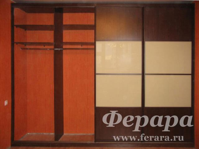 """Встроенный шкаф купе """"шоколад"""" (фото, информация, размеры, м."""